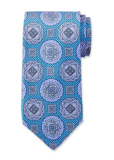 Neiman Marcus Men's Medallion Pattern Silk Tie