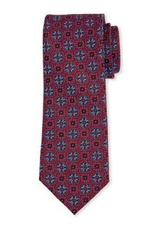 Neiman Marcus Men's Medallion-Print Silk Tie
