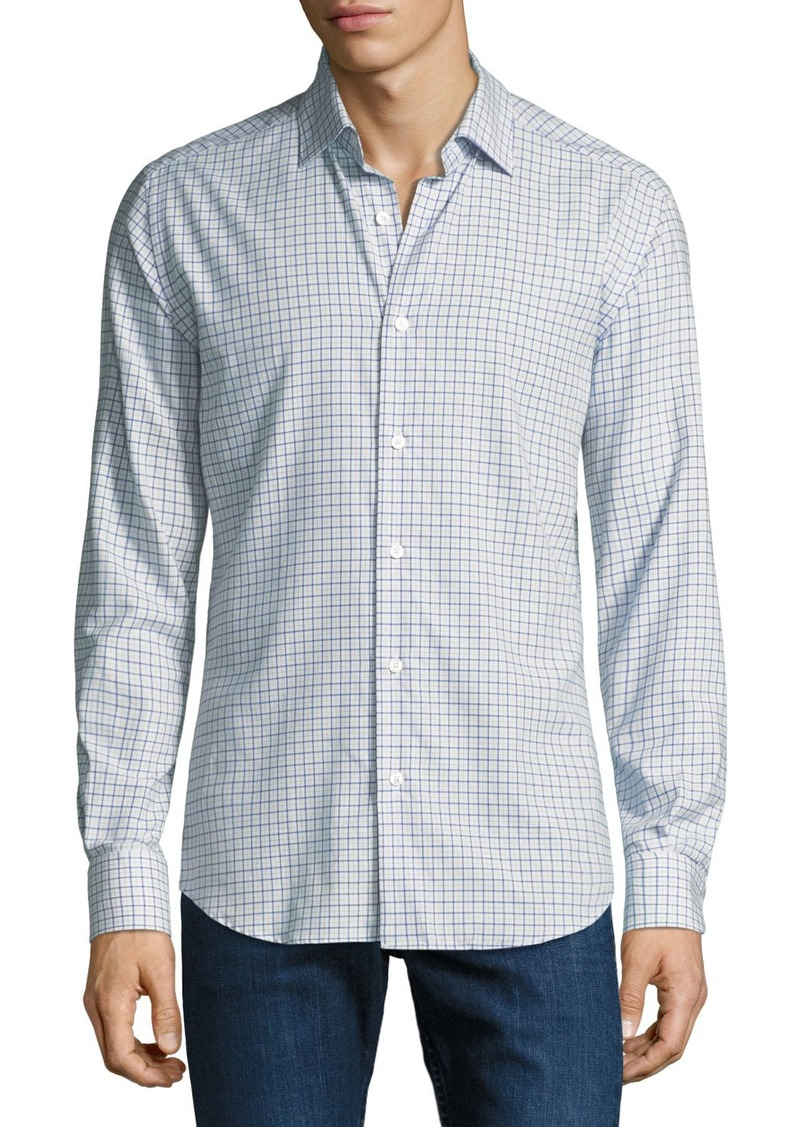 Neiman Marcus Men's Medium Check Cotton Sport Shirt