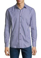 Neiman Marcus Men's Medium Tartan Plaid Cotton Sport Shirt