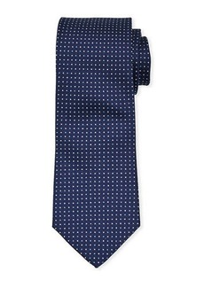 Neiman Marcus Men's Micro Dot Silk Tie