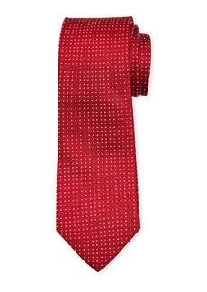 Neiman Marcus Men's Micro Dot Silk Tie