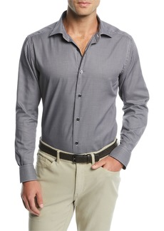 Neiman Marcus Men's Micro-Gingham Dress Shirt