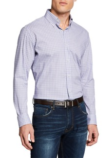 Neiman Marcus Men's Micro-Plaid Sport Shirt