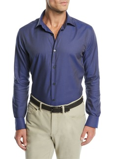 Neiman Marcus Men's Micro Tartan Plaid Sport Shirt
