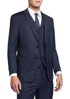 Neiman Marcus Men's Mini-Chevron Three-Piece Vested Suit