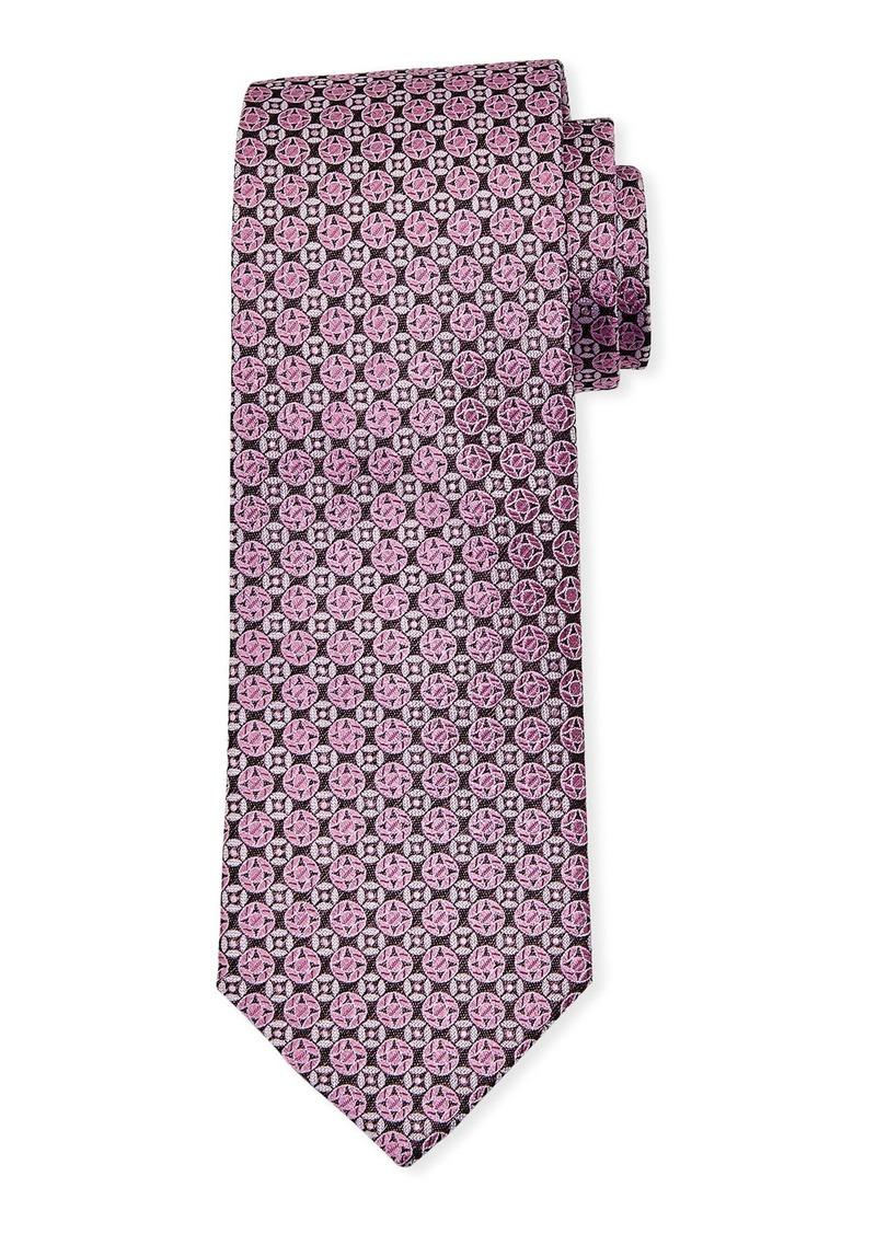 Neiman Marcus Men's Mini Circles Silk Tie