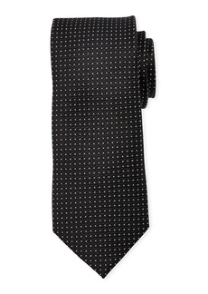 Neiman Marcus Men's Mini-Dot Print Silk Tie