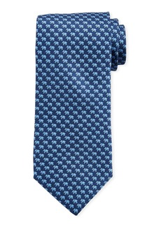 Neiman Marcus Men's Mini-Elephant Print Silk Tie