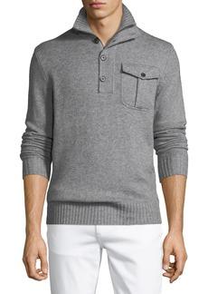 Neiman Marcus Men's Mock-Neck Pullover Sweater