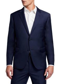Neiman Marcus Men's Modern-Fit Two-Piece Wool Suit  Navy