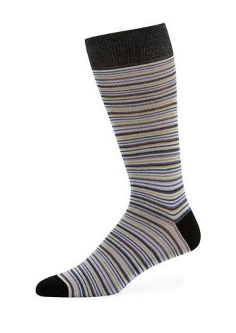 Neiman Marcus Men's Multi-Stripe Socks