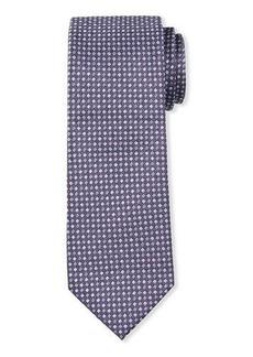 Neiman Marcus Men's Neat Check Silk Tie