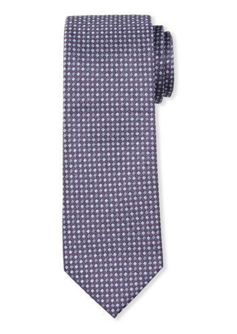 Neiman Marcus Men's Neat Check Silk Tie