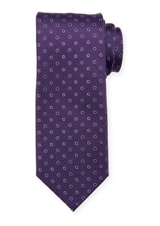 Neiman Marcus Men's Neat Circle Silk Tie