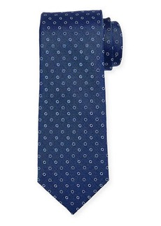 Neiman Marcus Men's Neat Circle Silk Tie