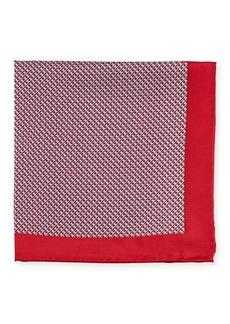 Neiman Marcus Men's Neat Dot-Print Silk Pocket Square