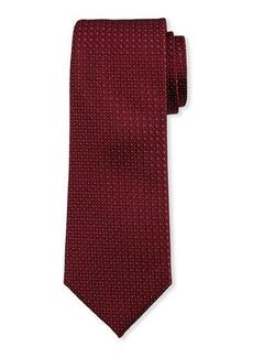 Neiman Marcus Men's Neat Dot Silk Tie
