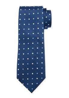 Neiman Marcus Men's Neat Dot Silk Tie