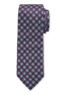Neiman Marcus Men's Neat Floral Silk Tie