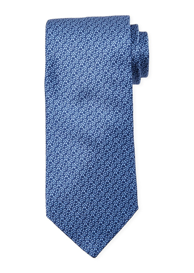 Neiman Marcus Men's Neat Flower Print Silk Tie