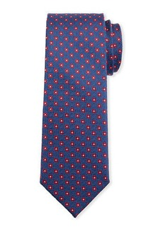 Neiman Marcus Men's Neat Flower Silk Tie