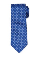 Neiman Marcus Men's Neat Ground Spaced Silk Tie