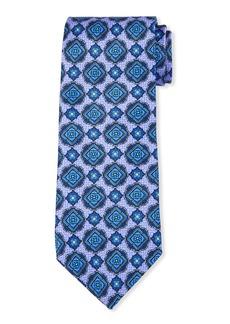Neiman Marcus Men's Neat Medallion Silk Tie