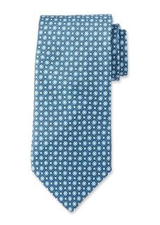 Neiman Marcus Men's Neat Pattern Silk  Tie