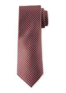 Neiman Marcus Men's Neat Square/Floral Silk Tie