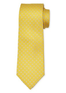 Neiman Marcus Men's Neat Textured Silk Tie