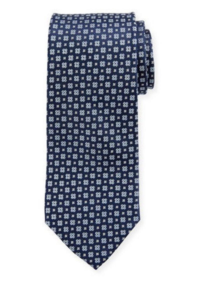 Neiman Marcus Men's Neat Textured Silk Tie