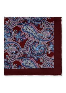 Neiman Marcus Men's Paisley-Print Silk Pocket Square