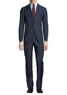 Neiman Marcus Men's Pin-Dot Bow Weave Two-Piece Suit  Blue