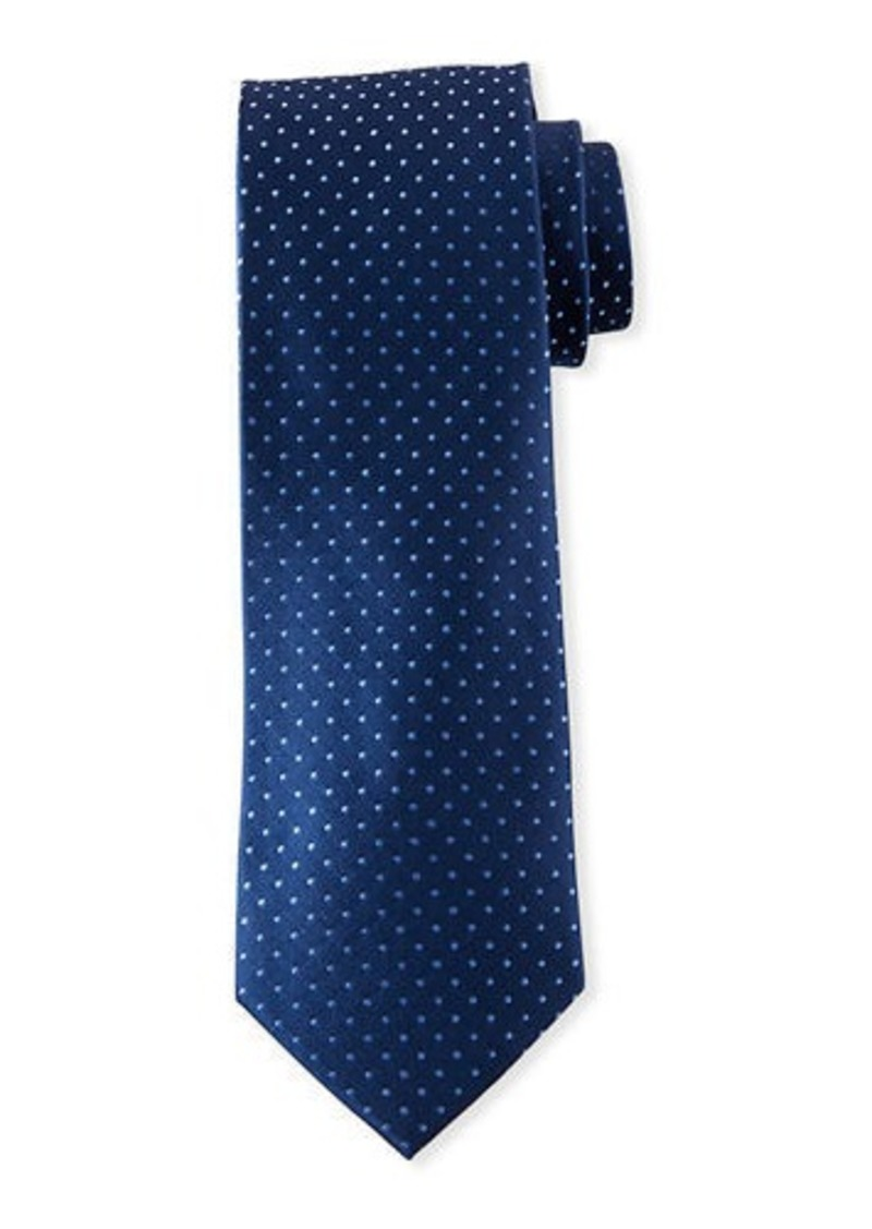 Neiman Marcus Men's Pin Dot Silk Tie