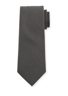 Neiman Marcus Men's Pin Dot Silk Tie