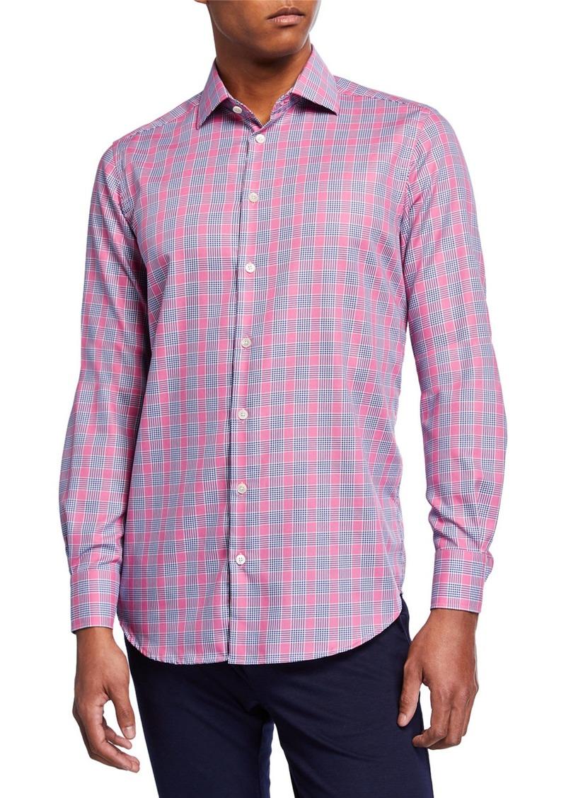 Neiman Marcus Men's Plaid Sport Shirt
