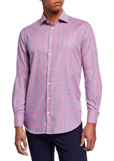 Neiman Marcus Men's Plaid Sport Shirt