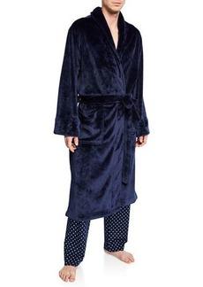 Neiman Marcus Men's Plush Fleece Robe