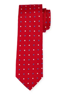 Neiman Marcus Men's Polka Dot Silk Tie