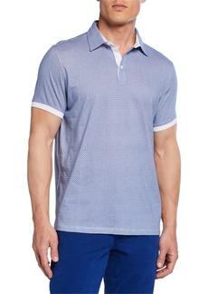 Neiman Marcus Men's Printed Jersey Polo