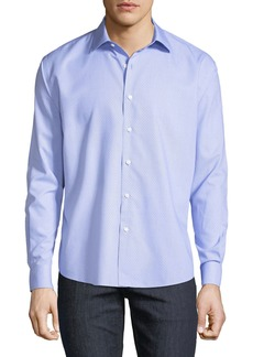 Neiman Marcus Men's Regular-Fit Dobby Check Sport Shirt