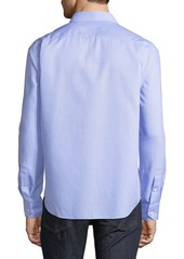 Neiman Marcus Men's Regular-Fit Dobby Check Sport Shirt
