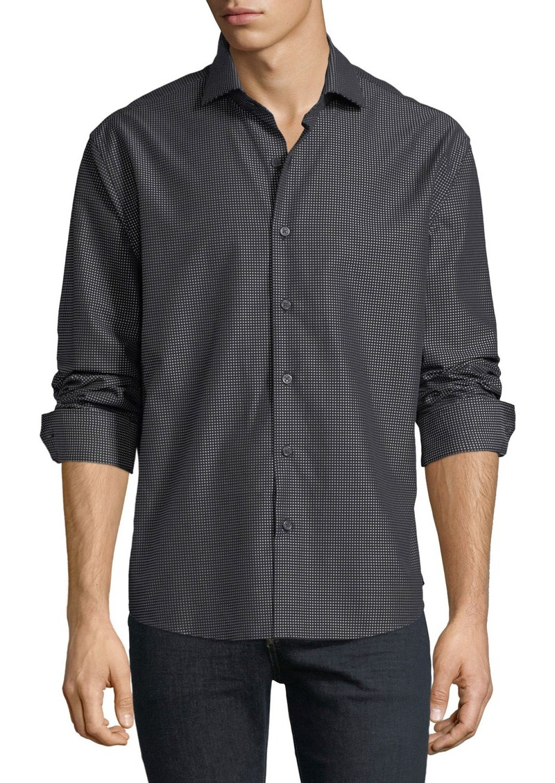 Neiman Marcus Men's Regular-Fit Dobby Dot Sport Shirt
