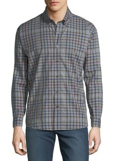 Neiman Marcus Men's Regular-Fit Plaid Button-Down Cotton Shirt