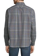 Neiman Marcus Men's Regular-Fit Plaid Button-Down Cotton Shirt