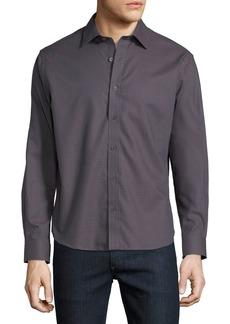Neiman Marcus Men's Regular-Fit Regular-Finish Large Houndstooth Dobby Sport Shirt