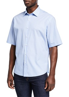 Neiman Marcus Men's Regular-Fit Short-Sleeve Sport Shirt