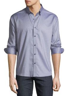 Neiman Marcus Men's Regular-Fit Solid Sport Shirt