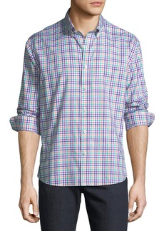 Neiman Marcus Men's Regular-Fit Twill Checkered Sport Shirt